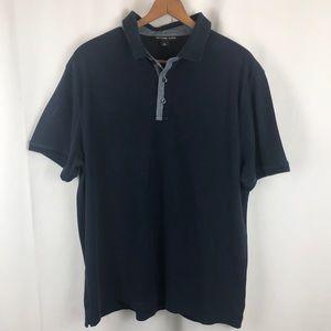 Michael Kors navy short sleeve polo golf shirt XL
